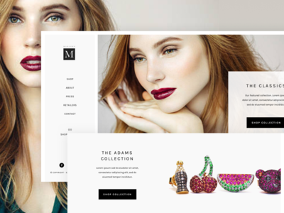 Madison Jewelry elegant simple jewelry website shopping branding fashion homepage