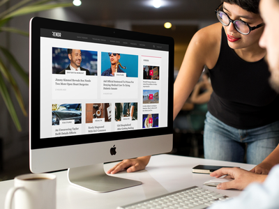 News Homepage branding flat ux ui simple notch feed news homepage