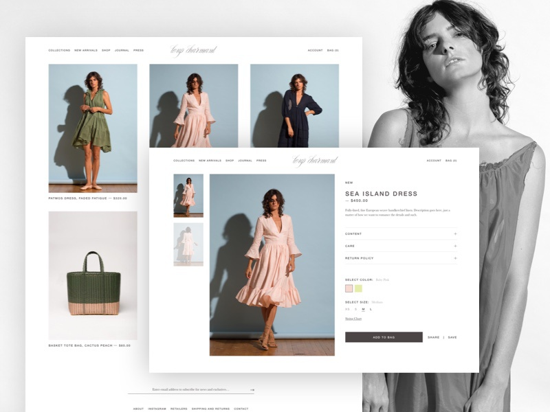 Fashion Website notch ecommerce simple ux ui web homepage fashion