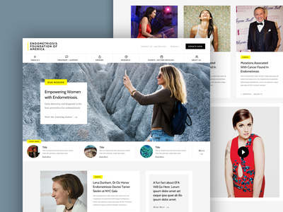 EFA Homepage branding wireframe foundation simple notch nonprofit ux ui homepage