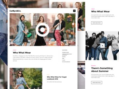 CarlByrd&Co design simple agency case study branding notch ux ui website homepage