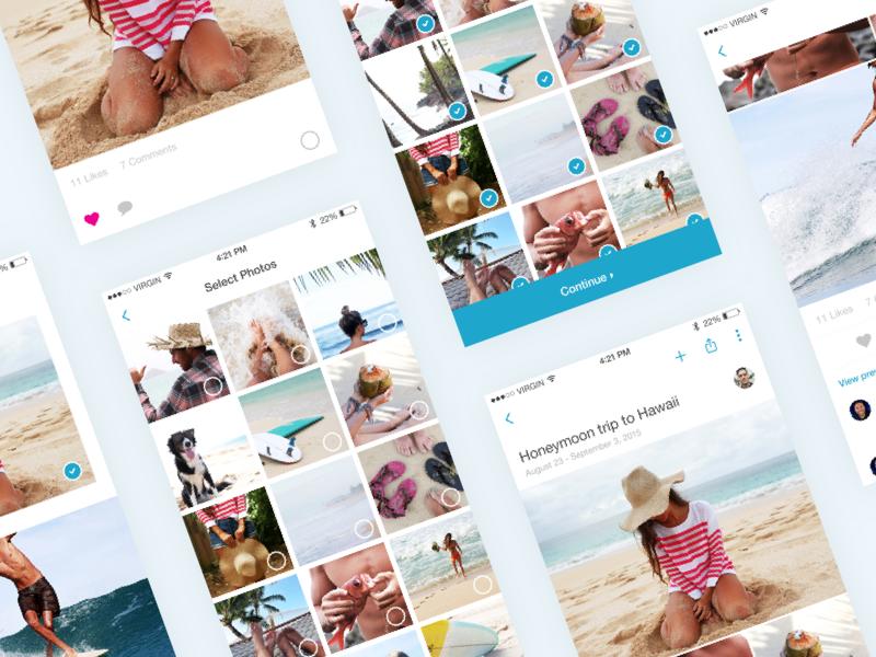 PhotoKeeper Screens ios app application iphone ui ux branding simple notch photo