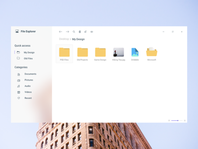 Windows 10 Acrylic neon acrylic microsoft icons blur icon folder file explorer windows