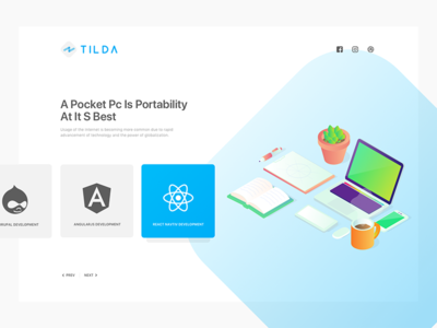 Tilda landing page