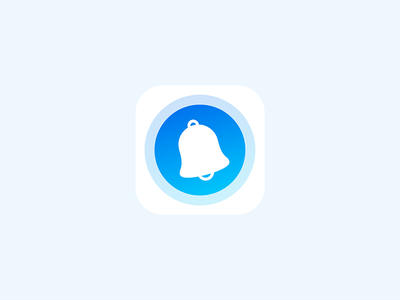 Notify app icon radius blue white ios app icon bell notification