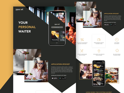 2pocket app – your personal waiter waiter personal application animation logo website ux ui design branding app