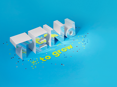 Agency 10th Anniversary Wallpaper concept identity sparkles typography photo 3d