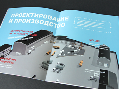 3D Illustrations for a Factory booklet booklet illustrations industrial 3d