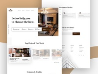 FinHome - House/Apartment Rental Landing Page