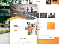 Freetroo - Startup Fitness Gym Landing Page