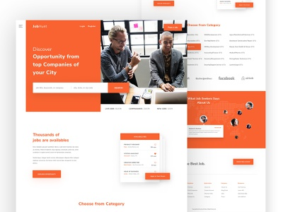 Job Finding Portal Landing Page ui ux website builder creative discover search google website design job landing job find job app landing page