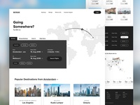Airline flight booking landing page