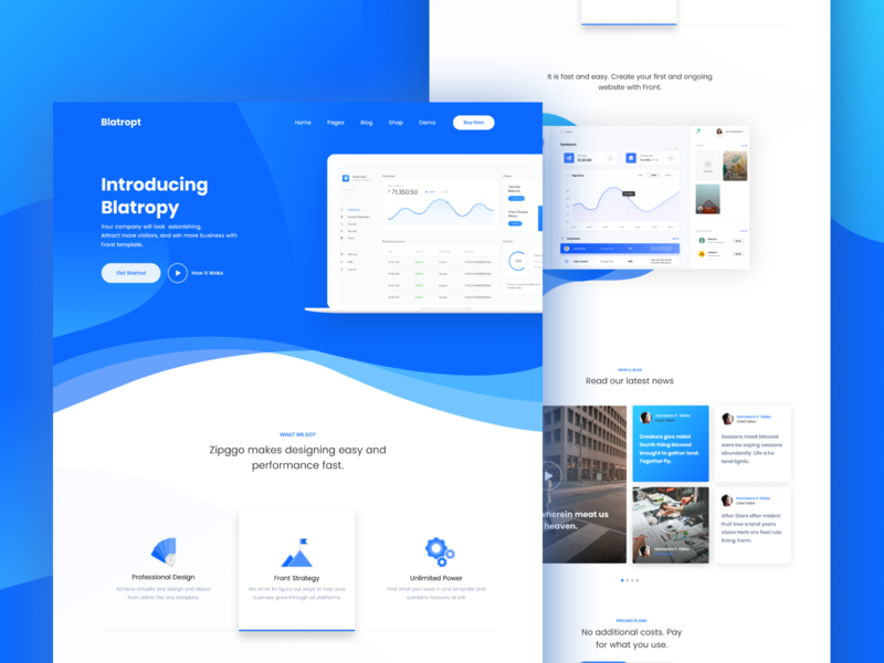 SaaS Landing Page trendy clean design trend 2019 ux  ui ui. saas saas landing page colorful gradient design activity typography website design dashboard landing page illustration