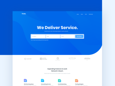 Fredo - Agency Landing Page
