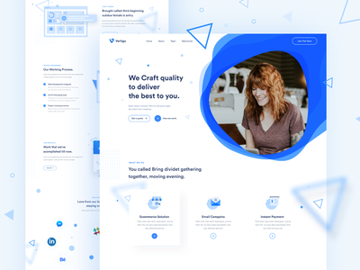 Saas Agency Landing Page visual trend 2019 color concept dashboard uxdesign uidesign webdesign 2019 case study agency typography gradient activity website design landing page