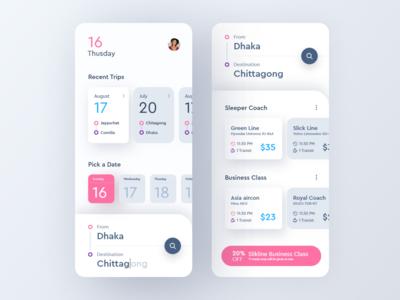 Bus Ticket Booking App Concept