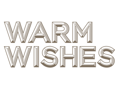 Warm Wishes typography font custom design graphic holiday