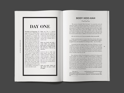 A BackstAGE Tour editorial print layout design typography