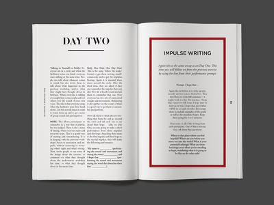 A BackstAGE Tour design graphic editorial layout print book