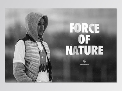 Nike Young Athletes nike sports athletics design typography hand done type