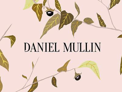 Daniel Mullin floral pattern graphic design design branding