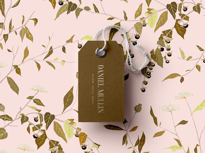 Daniel Mullin print collateral system typography invoice floral pattern graphic design design branding