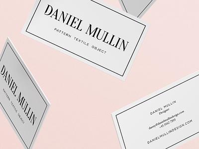 Daniel Mullin print collateral system typography pattern graphic design design branding