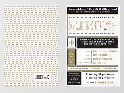 Birba | NYE poster design poster print typography graphic layout