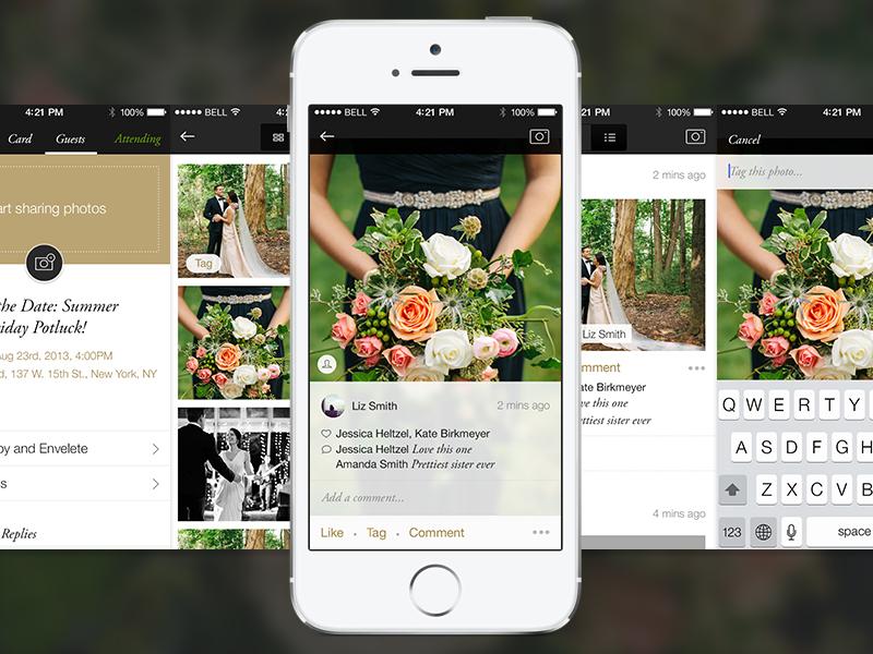 Photos feature ui ios gallery photo app paperless post