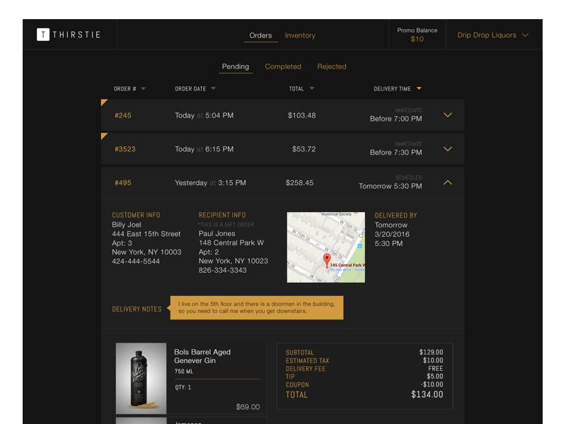 Orders Dashboard product web ux commerce order dark ui dashboard