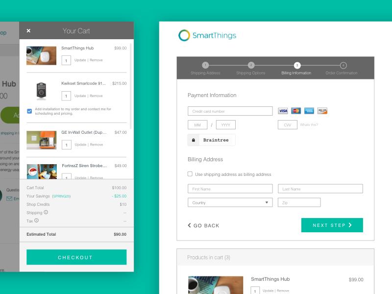 Checkout Process ui cart responsive mobile ecommerce web ux checkout
