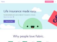 Fabric homepage update