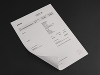 Letterhead and Invoice Design