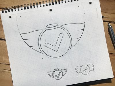 Logo Sketches logotype process hand drawn pencil design branding logo sketch