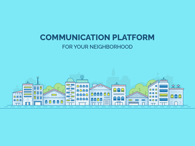 City Illustration app icon buildings illustration city