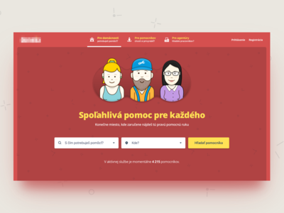 Find a helping hand color avatar webdesign landing search page home