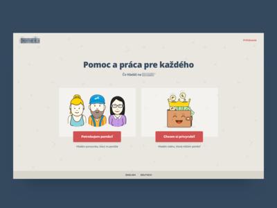 Choose an option. webdesign hero illustration page home color
