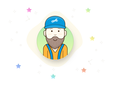 Handyman service application handyman illustration icon