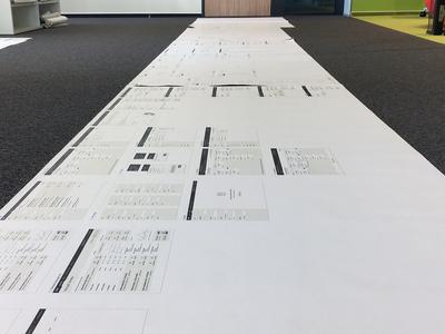 Wireframes board preparation