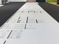 Wireframes board preparation