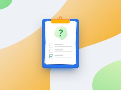 Questionnaire task questionnaire application icon vector design sketch