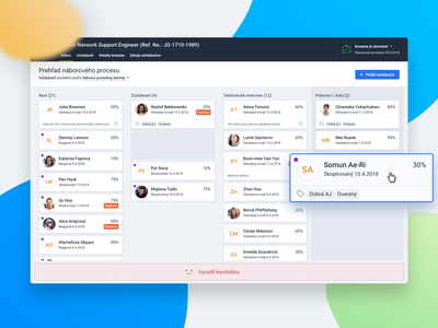 Pipeline view ui ux list drag clean app stages cards application sketch