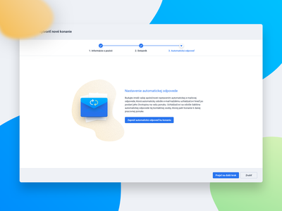 Create Wizard icon clean app ux ui settings wizard email application