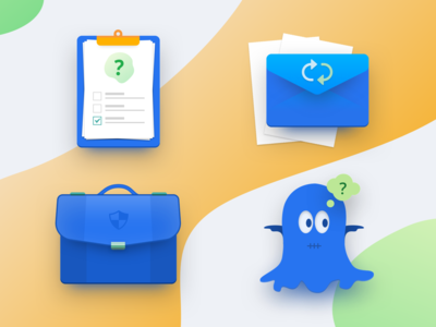 Icon Set illustration sketch icon a day office icons email envelope bage office bag ghost party questionnare icon set