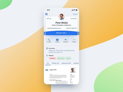 Candidate Profile ux ui detail user screen profile app mobile