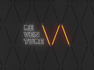 Reventure studio / Brand concept innovation branding design studio 3d logo brand