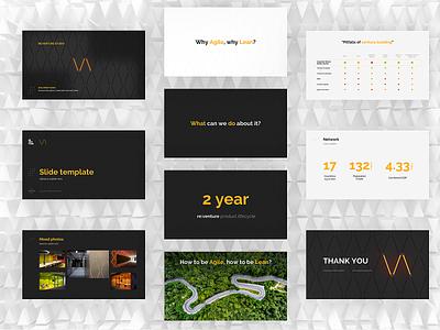 Slides Templates slide design system brand powerpoint keynote modern template