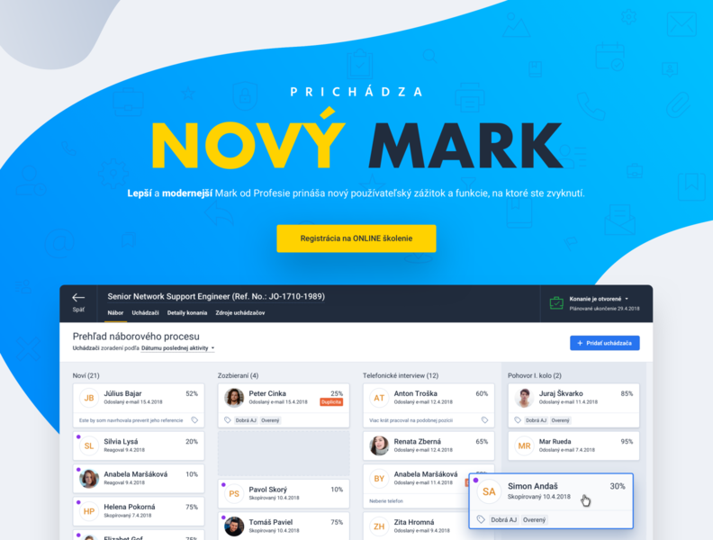 New Mark is comming... ux design landing page interaction interface app new ats application