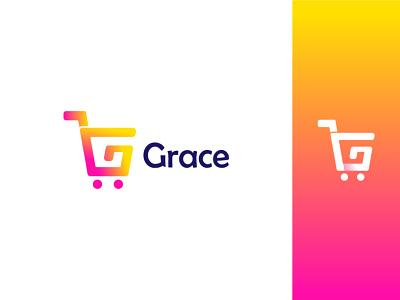 G+Shopping cart logo logotrend2021 colorfull logo unique color modernlogo logomaker colorfullogo letterlogo cart shopping shop design startup logoconcept logoprofesional logoinspire logoideas logoawesome