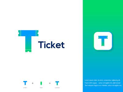 Letter T+ticket branding logo lettermark ticketlogo ticket creativelogo brandingbrand modernlogo bestlogo logoconcept startup logoprofesional logoinspire logoideas logoawesome